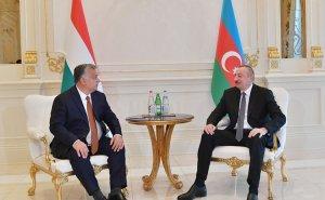 Azərbaycan Prezidenti Macarıstanın Baş Naziri ilə görüşüb - FOTO