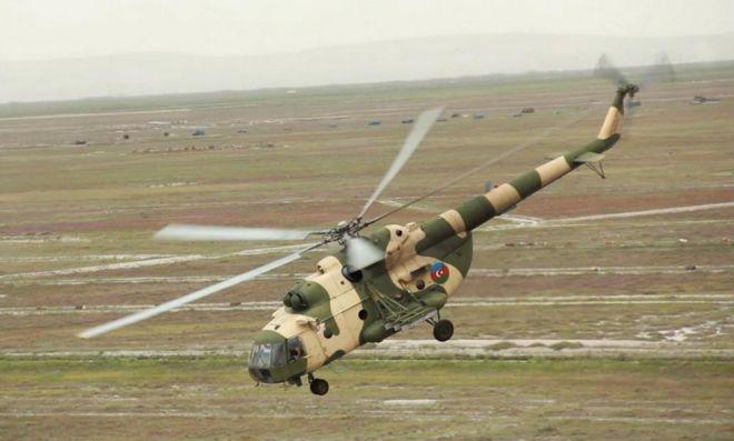 Azərbaycan Ordusunun helikopterləri Türkiyədə tapşırıqlar icra edib - VİDEO