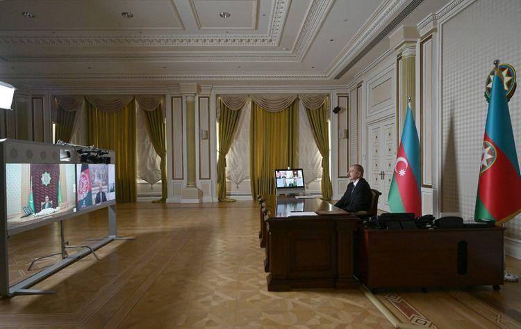 Prezidentlərin videokonfrans vasitəsilə görüşü keçirilib - FOTO