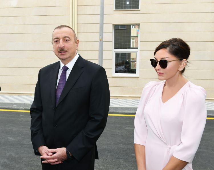 Prezident və birinci xanım təməlqoymada  İŞTİRAK EDİBLƏR