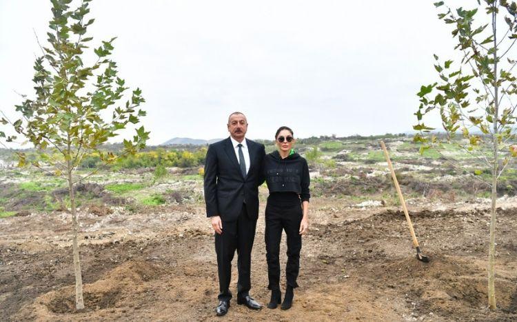 Prezident və birinci xanım Füzuliyə  GETDİ